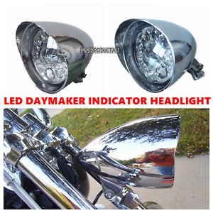 5.75 Chrome LED daymaker indicator headlight Harley LOW RIDER FAT STREET BOB