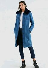 Levi's Made and Crafted Trucker Trench- Classic Coat with Faux Fur Small $698