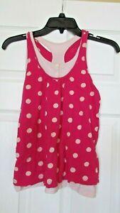 Girls Gap XL size 12 2-piece sleeveless top blouse polka dot Racer back