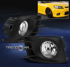 2011 2012 2013 SCION TC BUMPER CHROME FOG LIGHT LAMP+BULB+HARNESS+SWITCH NEW SET