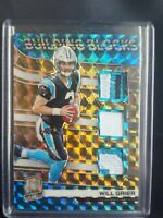 2019 Panini Spectra Building Blocks gold prizm 8/10 Will Grier #BB5 Rookie