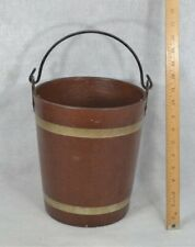 bucket fire water pail fiber 10 in. bail Victorian 19thc 1800s vg antique