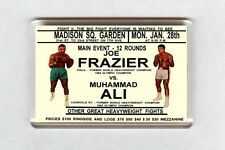 Old Boxing Poster Fridge Magnet - Muhammad Ali VS Joe Frazier