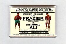 Old Boxing Poster Fridge Magnet - Muhammad Ali vs Joe Frazier