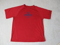Adidas New York Red Bulls Shirt Adult Large Red Blue Dri Fit MLS Soccer Mens