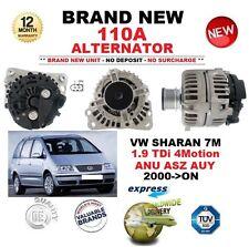 FOR VW SHARAN 7M 1.9 TDi 4Motion ANU ASZ AUY 2000-ON NEW 110A ALTERNATOR
