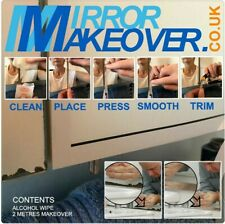 DIY Mirror repair sticker tape for desilvering or black edged mirrors