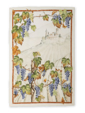 Grapes Cabernet - Linen Tea Towel - Made in Italy