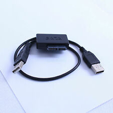 USB 2.0 Slimline Cable Adapter to SATA 7+6 13 Pin For Serial ATA Optical Drive
