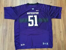 Northwestern Wildcats NCAA Football SUPER AWESOME Under Armour Size 4XL Jersey!