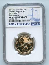 2018 S $1 Reverse Proof 50th Anniversary Sacagawea Dollar NGC PR70 ER