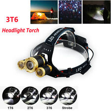Outdoor Rechargeable T6 Flashlight LED Headlight Torch Outdoor Saftey Headlamp