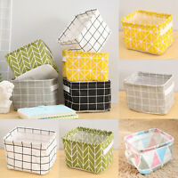 Folding Storage Box Square Bin Closet Fabric Cube Toys Foldable Basket Organizer