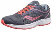 Saucony Womens Cohesion 11 Low Top Lace Up Running Sneaker, Grey/Red, Size 12.0