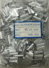 Aluminum Oval Crimp Sleeves 2.3mm x 18mm - 1000 pieces D size New