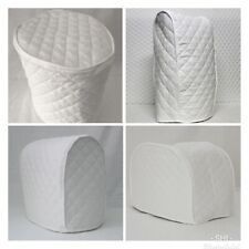 White Quilted Double Faced Cotton Appliance Cover