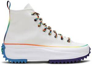 CONVERSE Run Star Hike High PRIDE Rainbow White MULTIPLE SIZES Unisex 170824C