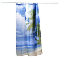 Tropical Palm Tree Summer Beach Polyester Shower Curtain Bathroom Decor w/ T1 CQ