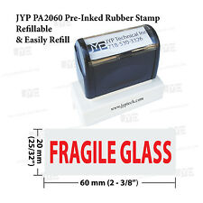 """JYP PA 2060 Pre-Inked Rubber Stamp, Stamp Text  """"  Fragile Glass """""""