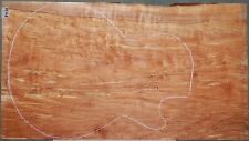 Spalted Maple Instrument Wood #5426 ONE Piece Guitar top 24.5x 13.5 x .500""