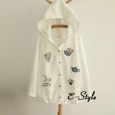 White Sweet Girls Lolita Coat Jacket Short Sunscreen Coat Lace Decor Cardigan