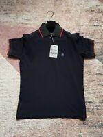 Mens Vivienne Westwood Polo Shirt - BNWT - Navy Short Sleeve XL
