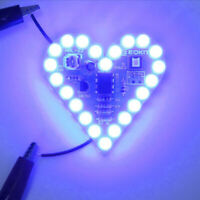 Electronic Heart Shape Breathing Lamp Kit Breathing LED Suite White Product romd