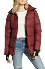 Fairbanks Hooded Waterproof Down Coat Burgundy Red Puffer Small S $295 SOLD OUT!