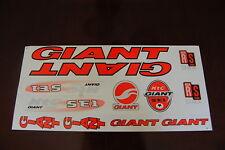 Giant  Stickers Orange, Black & Silver XTC SE1
