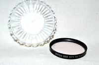 Tiffen 55 mm Sky 1A Screw-In Filter with Case Made in USA (L-166)