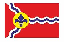 St Louis city flag Sticker Missouri for bumper Car Helmet Laptop Fridge Door