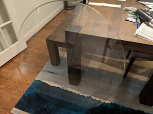 """Glass Table Top - 36"""" diameter, Styled Edges - LOCAL PICKUP OFFERED"""