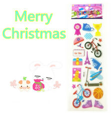 2018 Cheap New Style Bicycle Stereoscopic Puffy Bubble Wall Stickers Kids Gifts
