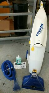 Oreck RINSE-A-MATIC Upright Carpet Steamer Gently / Never Used w/ Tube & Cleaner