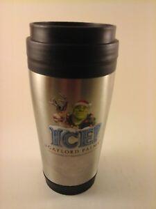 "RARE - 2011 SHREK THE HALLS 18-8 Stainless Steel 14 oz. 7"" Travel Mug Coffee Cup"