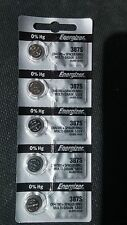 5 Brand New Energizer Watch Battery 387s (394/380+Spacer Ring) 1.55 volt