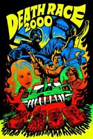 Death Race 2000 Jeremy Wheeler Blacklight Poster Screen Print Art 24x36 Mondo