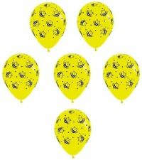 "12 Bumble Bee Printed 11"" Latex Balloons Qualatex Yellow & Black Party"