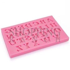 Mini Capital Letters Silicone Mould Alphabet Word Cupcake Topper Fondant Mold To