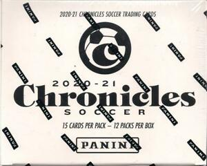 2020-21 Panini Chronicles Soccer Factory Sealed Cello Fat Pack Box