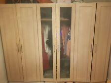 Wooden 3 double door Wardrobe (COLLECTION ONLY)