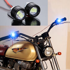 2 Pcs 12V 120 LM Motorcycle Handlebar Rearview Mirror LED Daytime Running Lights