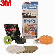 NEW 3M 39165 Headlight Restoration Kit with Drill-Activated Sanding Renew