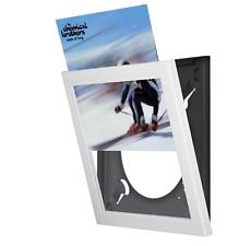 "12"" VINYL LP RECORD DISPLAY FRAME WHITE - INTERCHANGEABLE display units NEW"