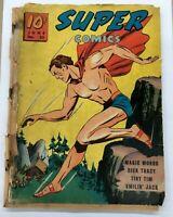 Super Comics #25  Dell 1940 Rare Vintage Comic Book  PR / Dick Tracy