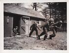 Original Press Photo WW2 BEF Royal Fusiliers run wires field telegraph 28.4.40