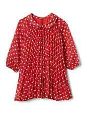 Baby Gap Girl's Modern Red Heart Print Pleated Dress Size 0-3 M NWT