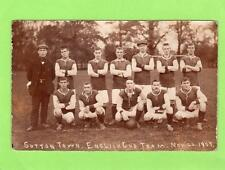 Sutton Town English Cup Football Team 1907 Nr Biggleswade RP old pc F Phillip
