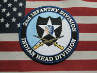 US ARMY 2ND INFANTRY DIVISION INDIAN HEAD DIVISION COLOR POCKET PATCH 4''