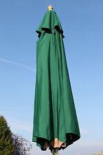 Superb Quality Large Hardwood Garden Parasol Umbrella - 3.5M Wide Dark Green